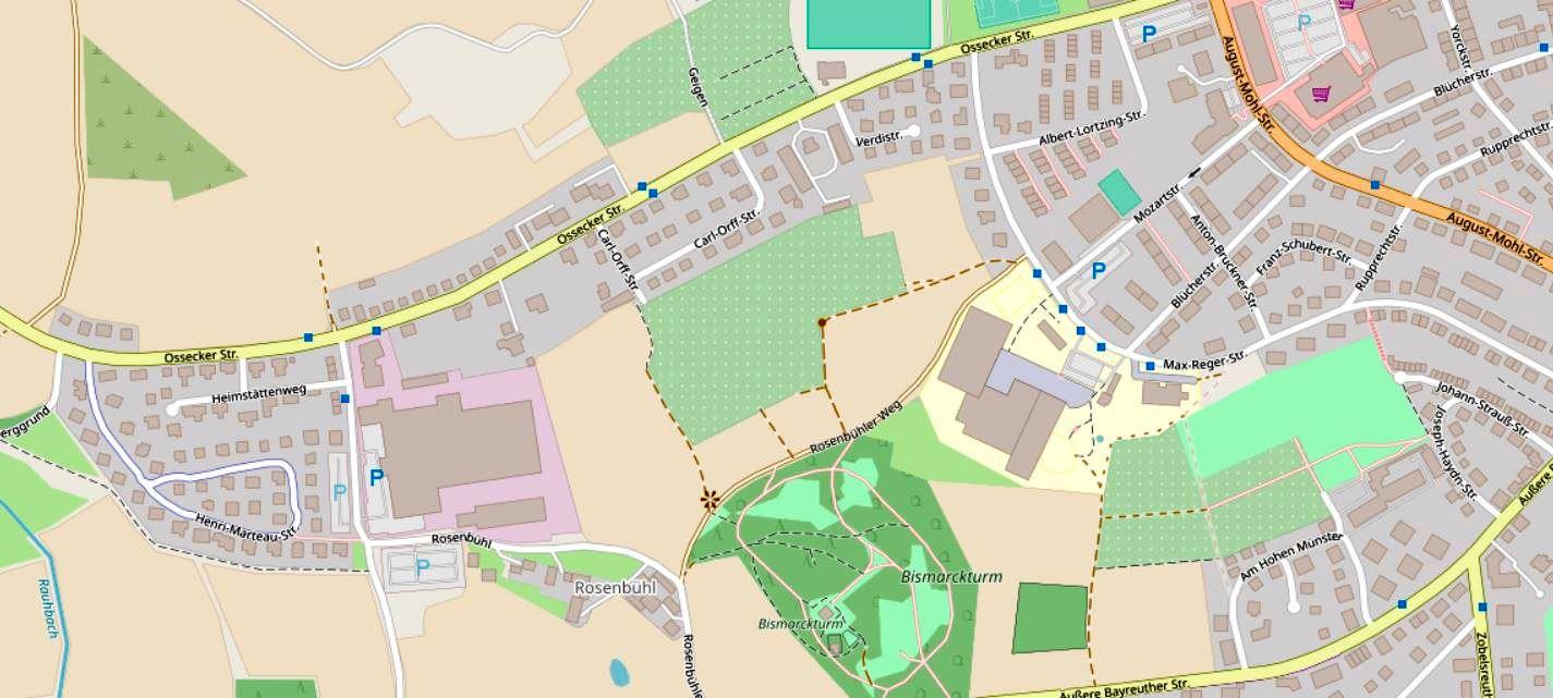 Kartenausschnitt des geplanten Baugebiets